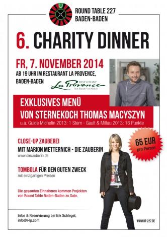 flyer_charitydinner2014